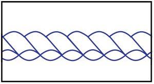 sewn-through-baffle