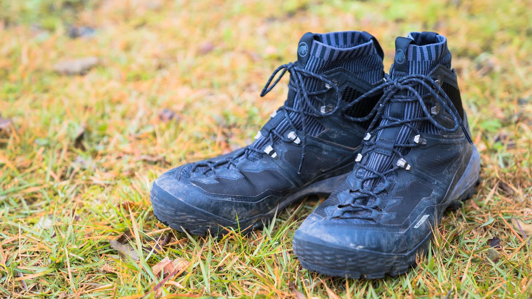 Review:MAMMUT Ducan Knit High GTX これがハイテク登山靴か。堅牢性の中にきらりと光る軽快さと極フィットが絶妙なトレッキングブーツ
