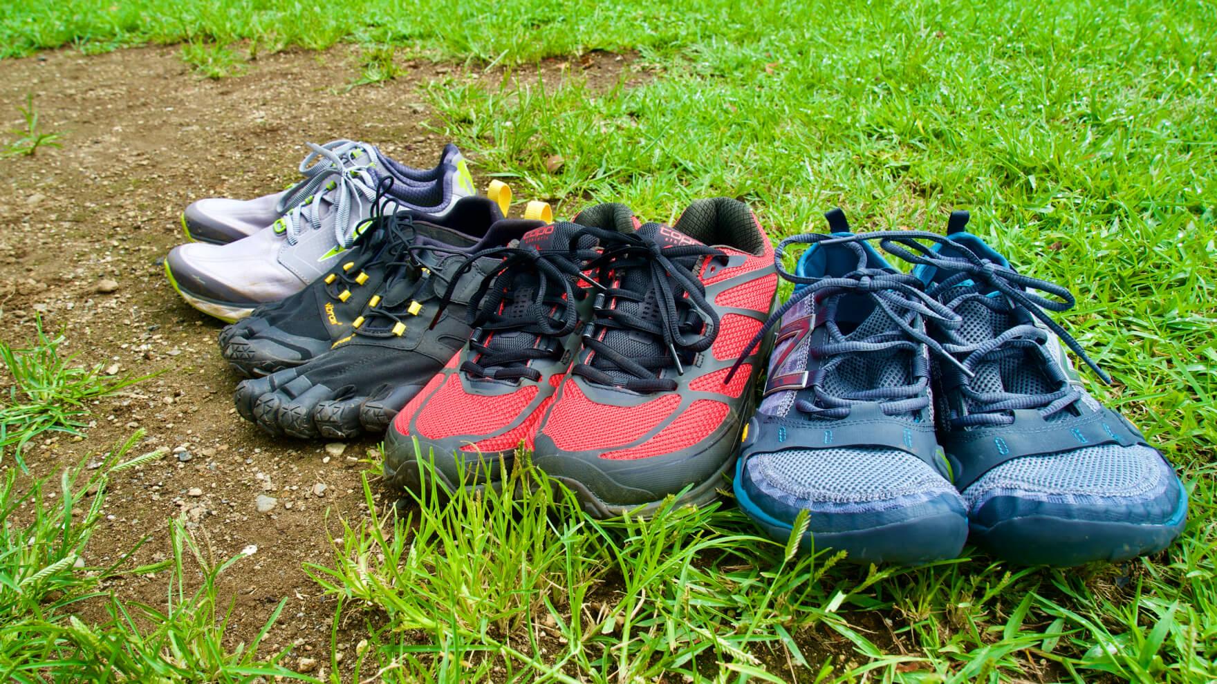 比較レビュー:素足で走る楽しさを。ミニマリスト系 トレランシューズを履き比べ