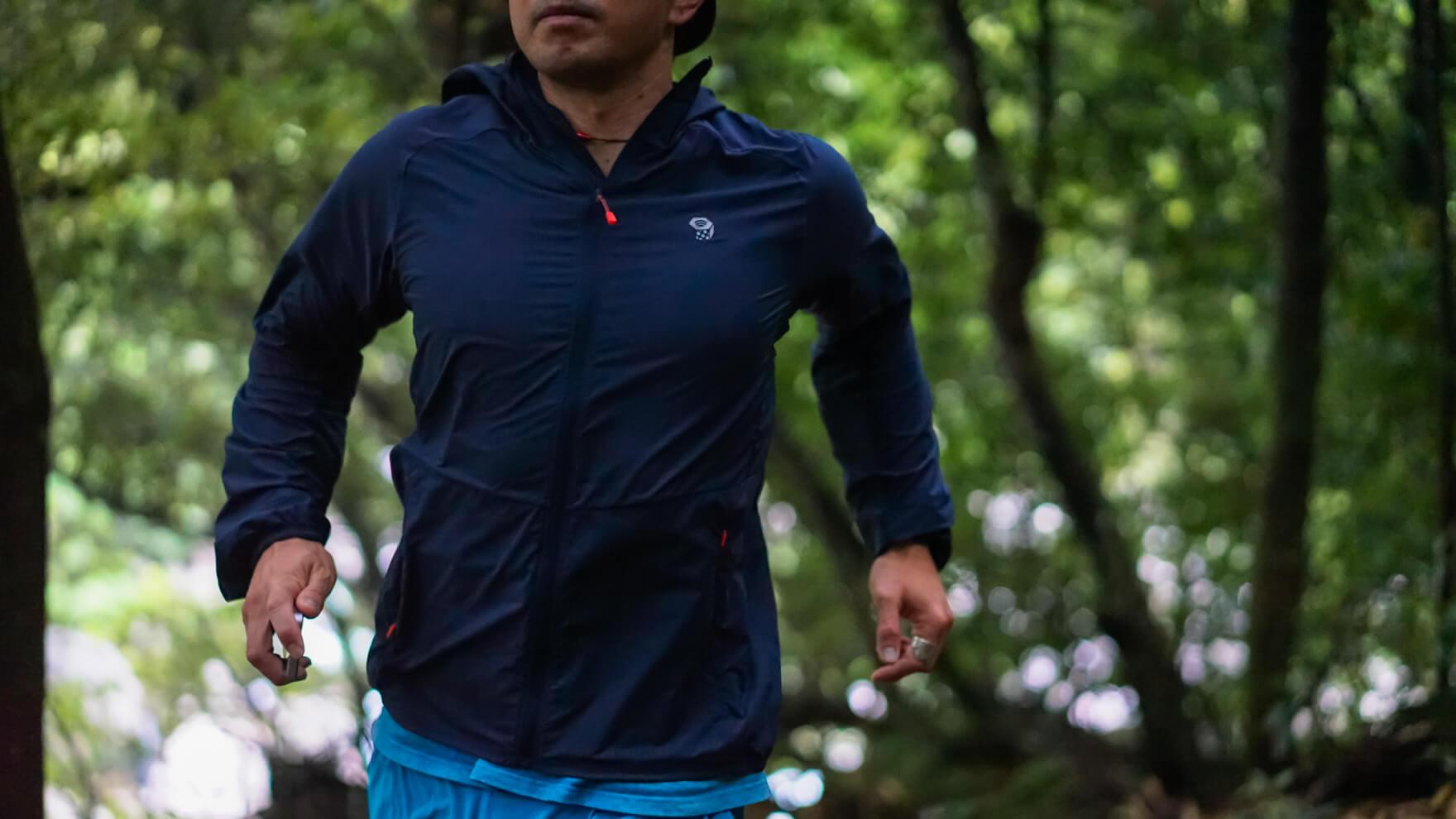 Review:ランナー・ハイカー必見!どこまでも快適な新しい行動着 Mountain Hardwear コアプレシェルフーディー