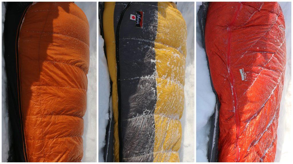 比較レビュー:冬用ダウンシュラフ 極寒の冬山でもぬくぬくと熟睡できたのは?